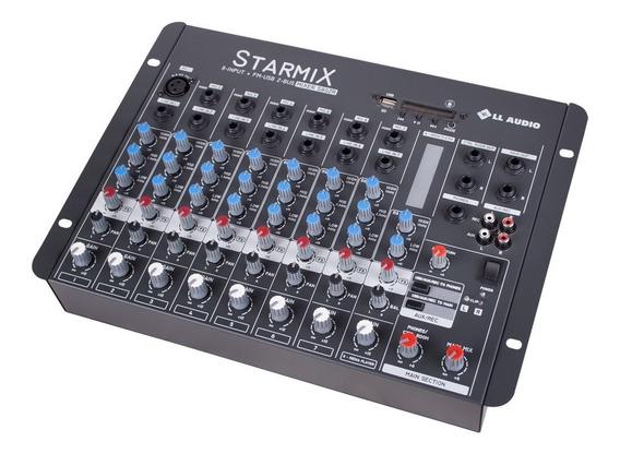 Mesa De Som Ll Mixer 8 Canais Usb Gravador Starmix Efeitos