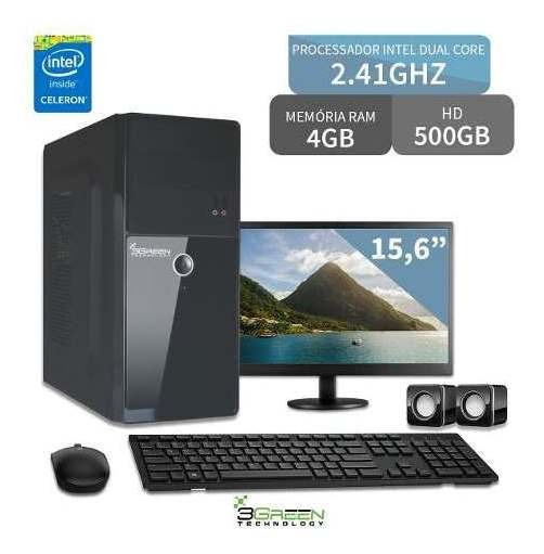 Pc Monitor 15,6 Dual Core 2.41ghz 4gb Hd 500gb 3green