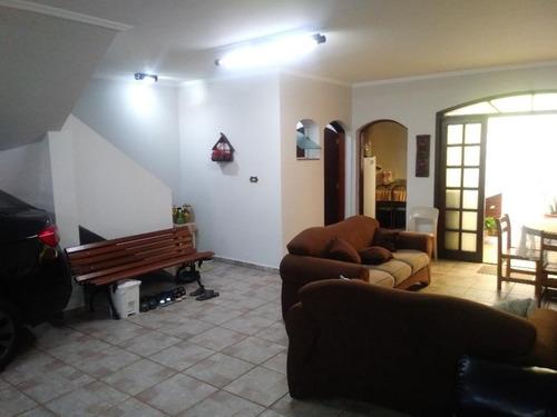 Sobrado Com 3 Dormitórios À Venda, 268 M² Por R$ 1.050.000,00 - Jardim Bela Vista - Santo André/sp - So1488