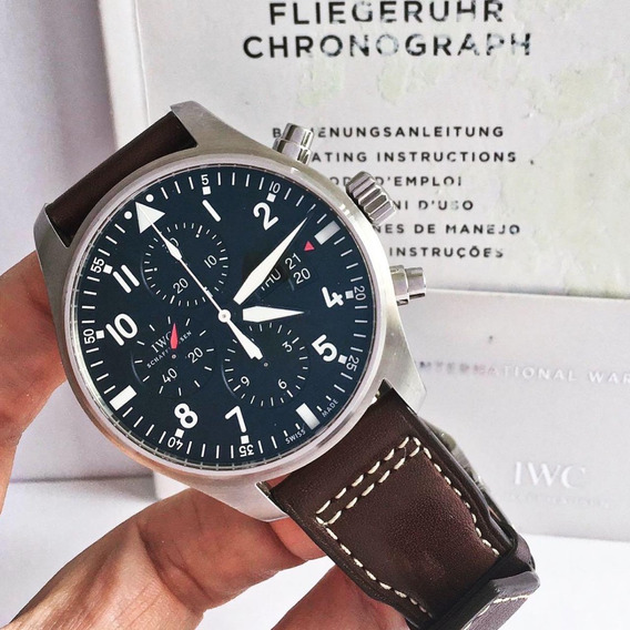 Iwc Pilot Chronograph Day-date Completo
