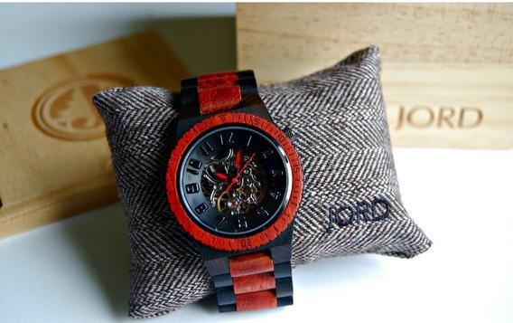 Relógio Jord Dover Automático Ebony & Rosewood