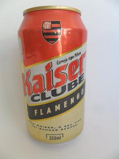 Lata Vazia Latinha Cerveja Kaiser Flamengo Ano 2000 Coleção