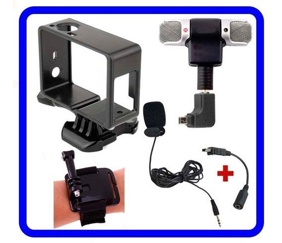 Gopro Kit 2 Mini Microfones Externos P/ Hero4/hero3+ C/acess