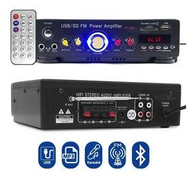 Amplificador Receiver Usb Som Ambiente Pc Sd Radio Fm 2x41w