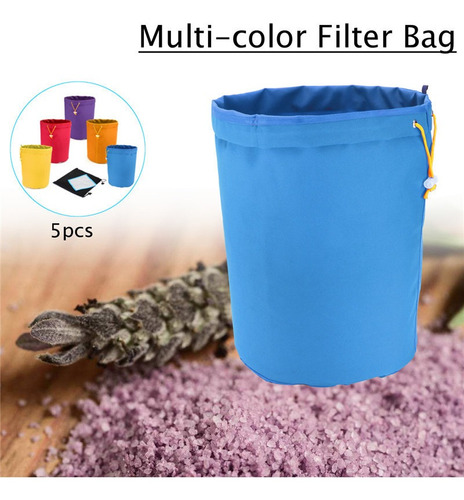 5 Pcs 1 Galão Bolha Hash Bolsa Ice Herbal Extractor Kit +pre