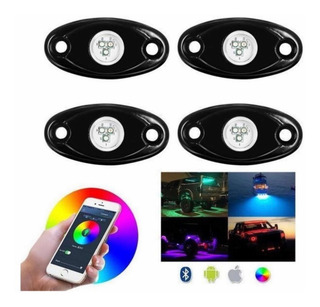 Kit Luces Led Rgb Rock Light Bluetooth Rzr Jeep Atv Canam