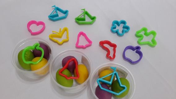 36 Formitas Cortantes Plasticos De Color Para Masa Souvenirs