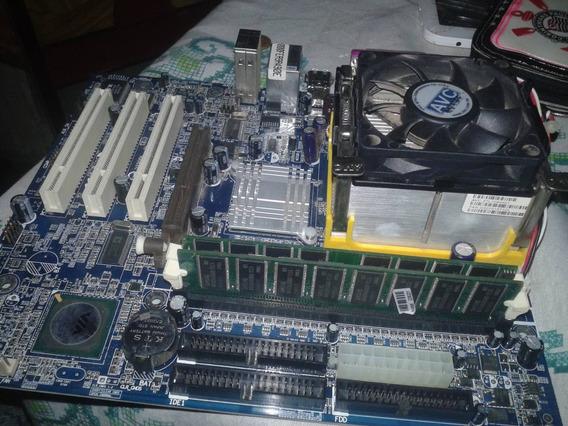 Placa Mae + Processador + Cooler + Memoria