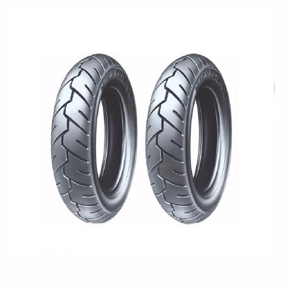 Par Pneu 3.50-10 Michelin Traseiro/dianteiro Burgman 125
