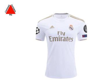 Camisa Real Madrid Jogador 2019/2020 Champions - P.entrega