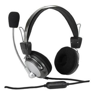 Audifonos Gaming Microfono Pc Negro