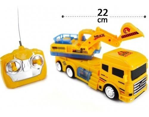 Caminhão Escavadeira De Controle Remoto Com Som E Luz