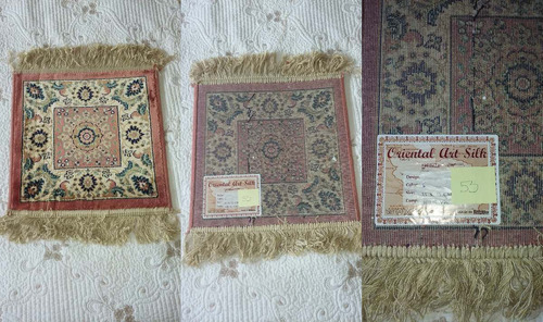 Carpeta Alfombra Belga De Calidad 35x35 Cm Oriental Art Silk