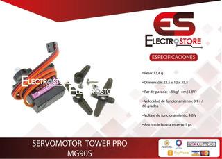 Servomotor Tower Pro Mg90s 2,5kg.cm. 180 Grados Arduino