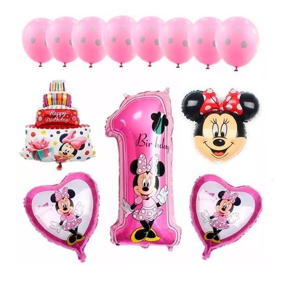 Fiesta Minnie Mouse Rosa Decoración Para Fiestas En