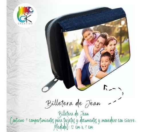 Billetera Personalizada De Jean Con Monedero - Ok Creativo