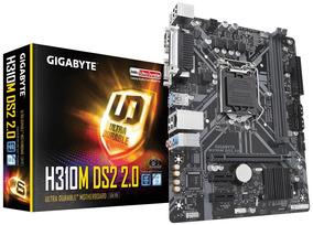 Placa Mãe Intel Lga 1151 Gigabyte H310 M Ds2 2.0 Ddr4 Vga
