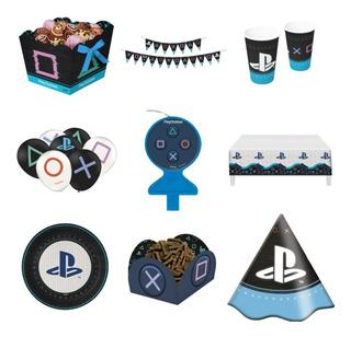 Festa Completa Playstation - Balão, Faixa, Toalha E Mais