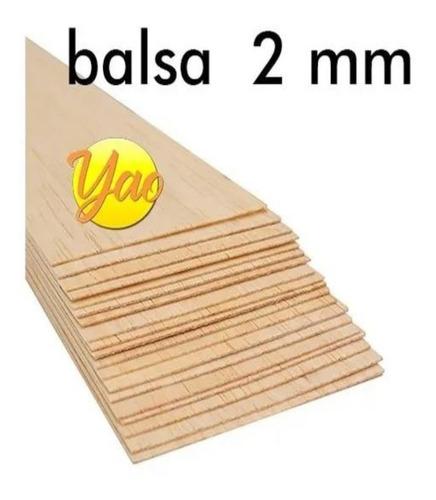 Imagen 1 de 5 de Madera Balsa En Plancha De 2 Mm 7,6 Cm X 91,5 Cm