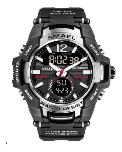 Relógio Masculino Smael 1805 Esportivo Prova D'água Prata