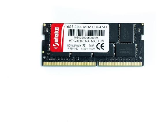 Memória Veteke 16gb Ddr4 2400 Mhz Notebook 1,2v 16 Chips
