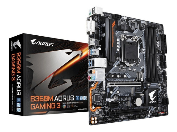 Placa-mãe Gigabyte P/ Intel 1151 B360m Aorus Gaming 3 4xddr4