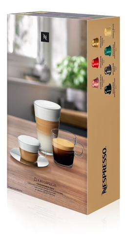 Cápsulas Café Nespresso Pack Best Seller X 80