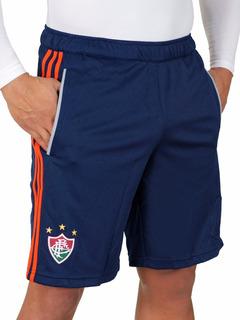 Nova Bermuda Fluminense De Treino Azul adidas Oficial 2013