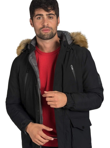 Campera Hombre Reversible Impermeable Oxford Polo Club Ubon