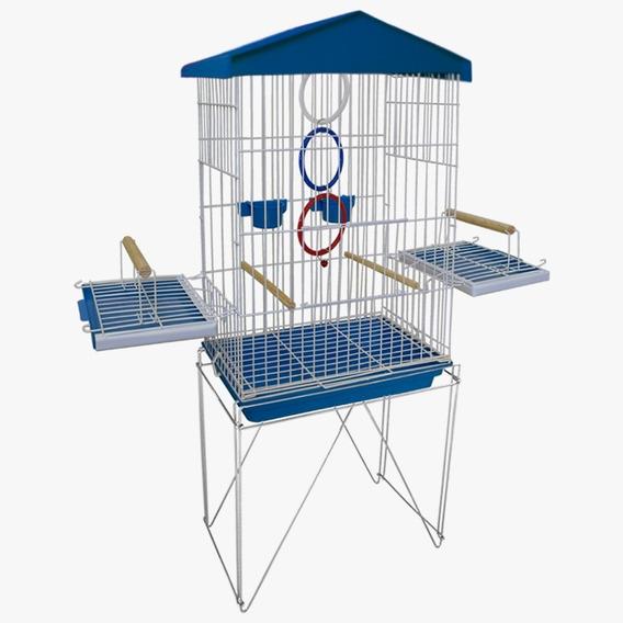 Gaiola Viveiro 2 Em 1 Para Calopsitas Pássaros Jandaia