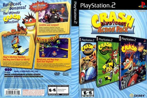 Jogo Ps2 Crash Bandicoot Action Pack ( Patch )