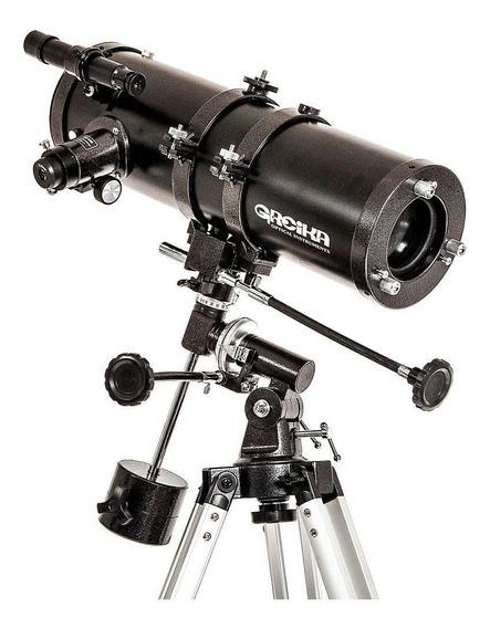 Telescópio Newtoniano Equatorial 1000x114mm Greika 1200x
