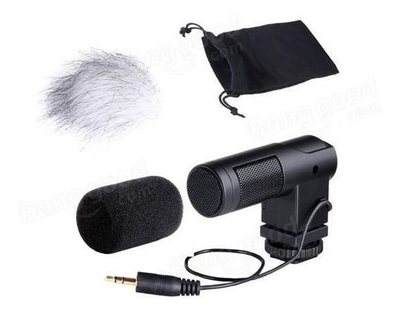 Microfone Externo Boya Filmagem Câmera Dslr Canon Nikon Sony