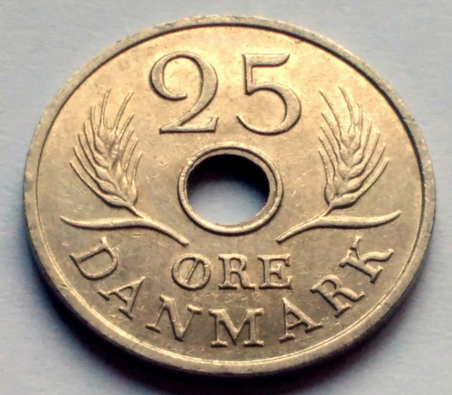 Moneda De Dinamarca, 25 Ore 1967.