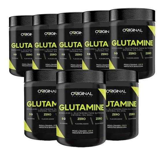Kit 8x Glutamina On 100% Pure 100g - Original Nutrition
