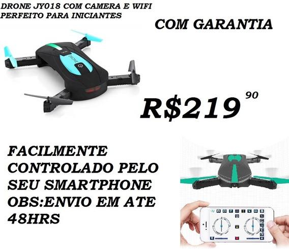 Drone Camera Selfie Filmagem Jy018 Cor Preta+bateria Do Extr