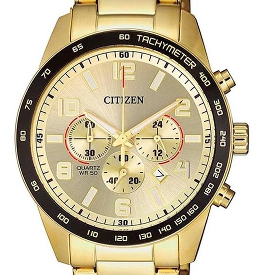 Relógio Citizen Masculino Dourado Crono An8163-54p /tz31454g
