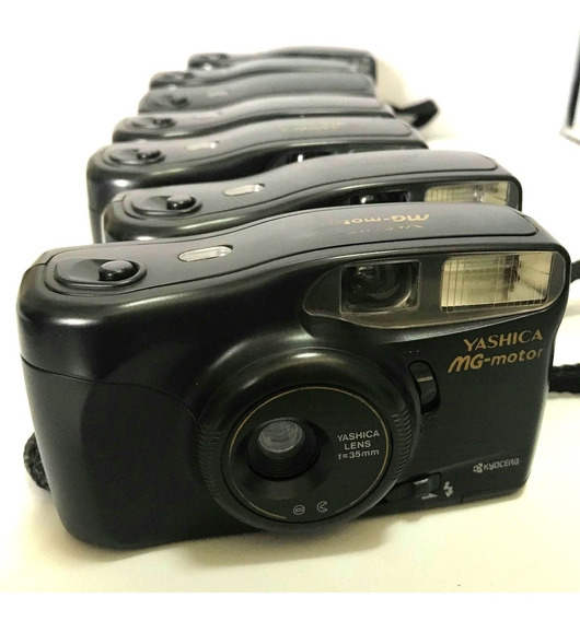 8 Câmera Fotografica Yashica Mg Motor Analogica Retro Coleçã