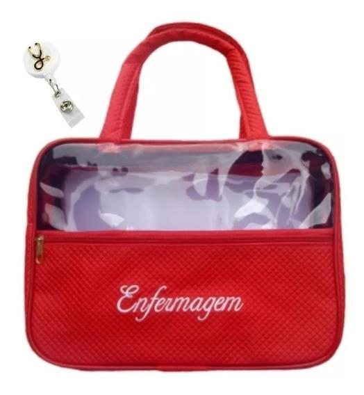 5 Bolsa Vermelha Estagio + 5 Porta Crachá