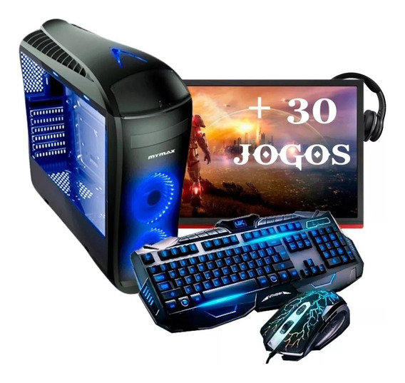 Pc Completo Gamer Monitor 19 Led Hdmi Wifi 8gb 30 Jogos