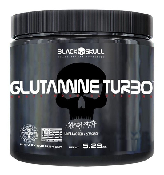 Glutamine Glutamina Turbo 300g - Black Skull