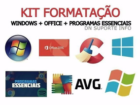 Kit Formatacão+ Chave Key+ Office 2018
