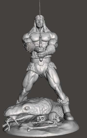 Archivos Stl De Impresión 3d - Conan Pose Épica