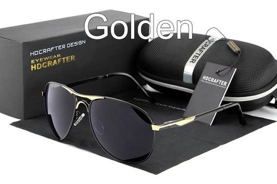 Novo Óculos De Sol Hdcrafter Masculino Aviador Original