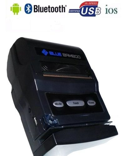 Kit 10 Impressora Térmica Portátil Bluetooth Blue Bamboo P25
