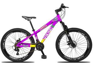 Bicicleta Vikingx Tuff 25 Freeride Aro Vmaxx Pneu 2.30