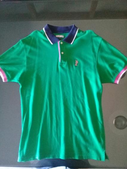 Camisa Tipo Polo Ussn Talla M Color Verde Padrisima