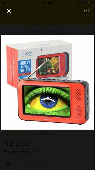 Exbom Mini Tv Digital Portátil Full Hd