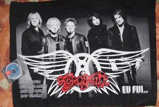 Bandeira Aerosmith 100% Polyester Steven Tyler *ñ Cd Dvd