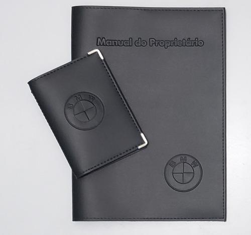 Imagem 1 de 5 de Kit Porta Manual E Porta Documento Couro Eco C Bmw